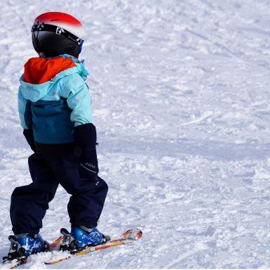 kid ski snow mountain