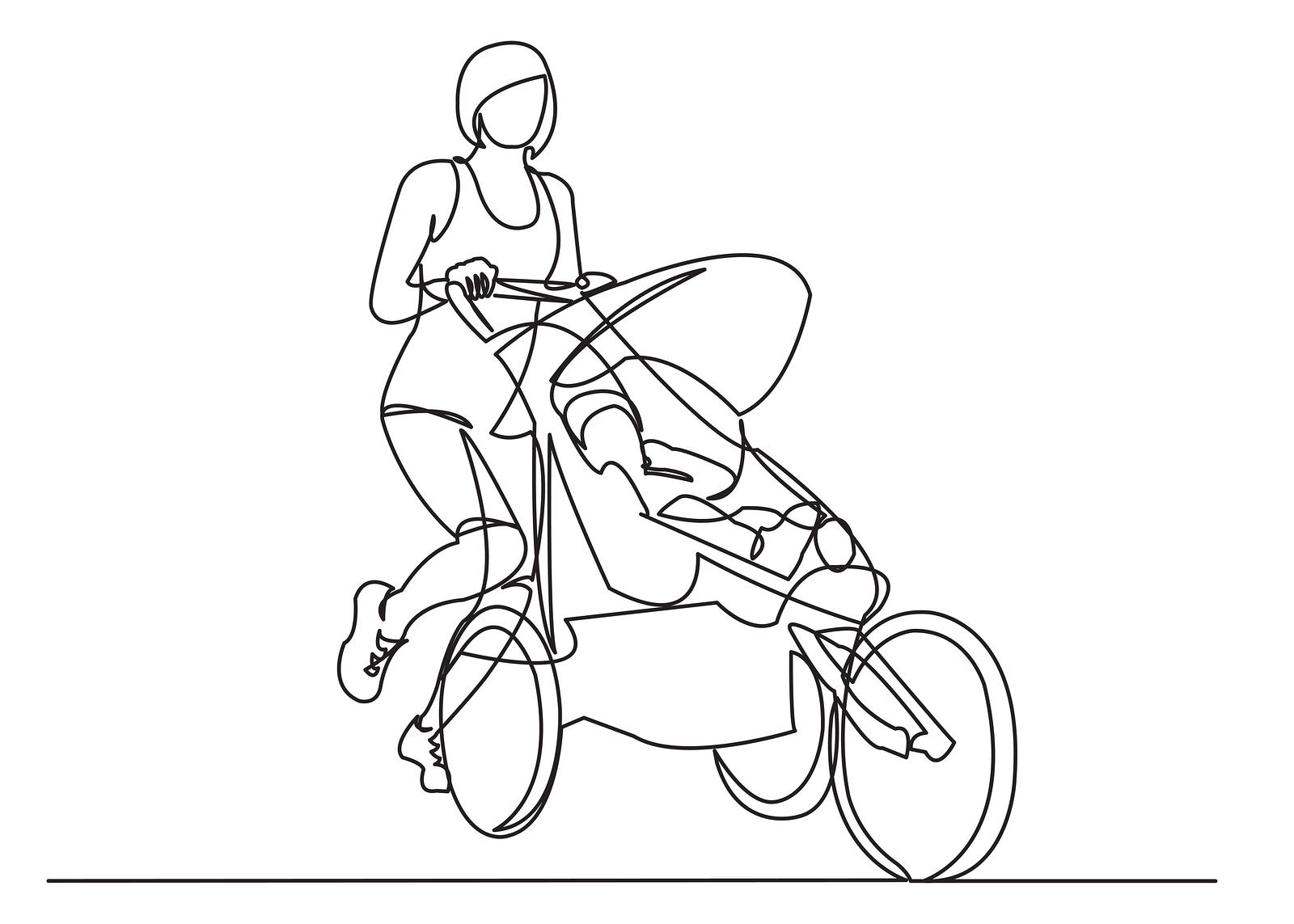 Tegnet-joggevogn