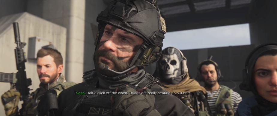 Grupa operatorów z Call of Duty: Warzone w trakcie cut scenki
