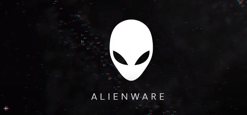 Logo Alienware na czarnym tle