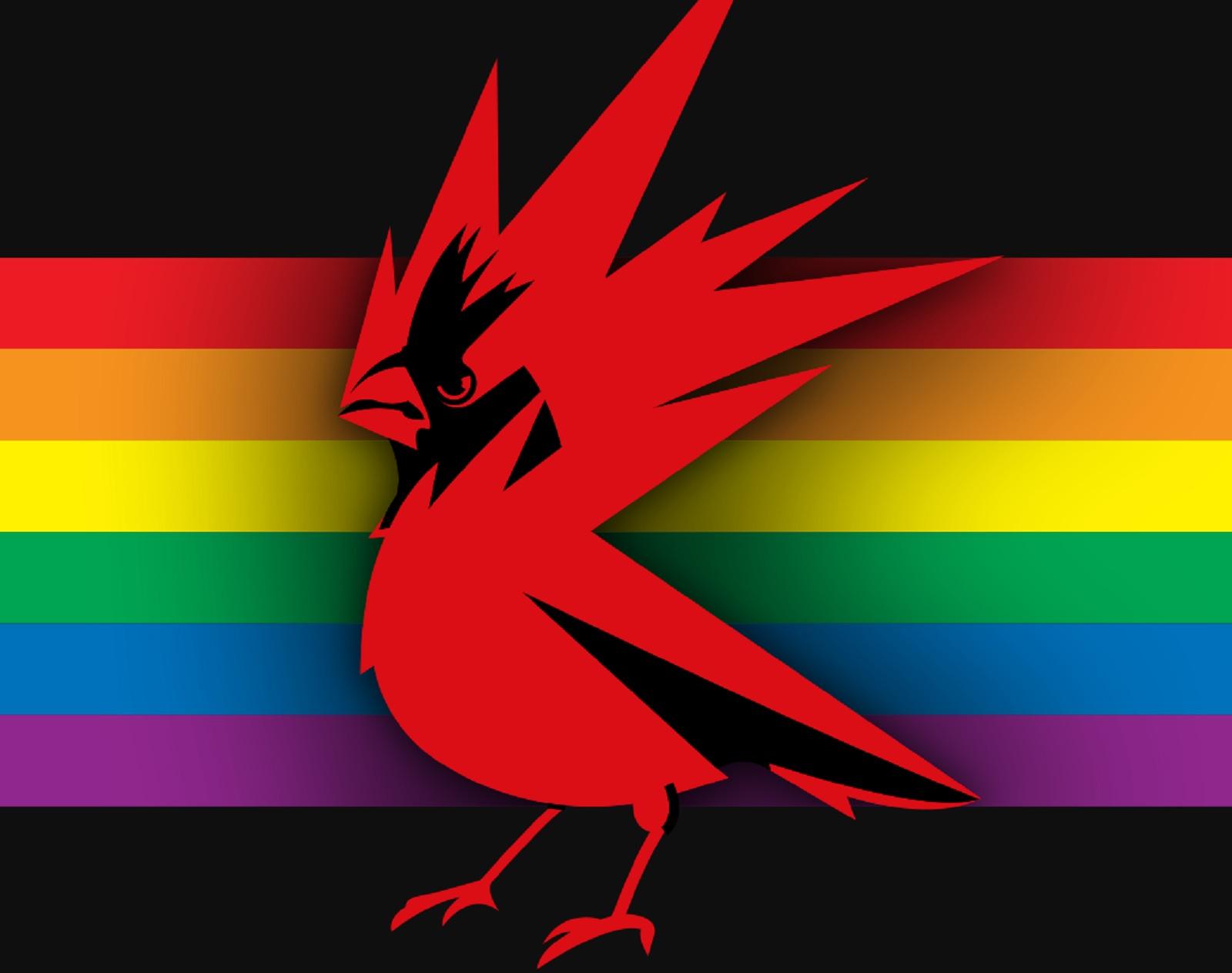 CD Projekt RED tęczowe logo