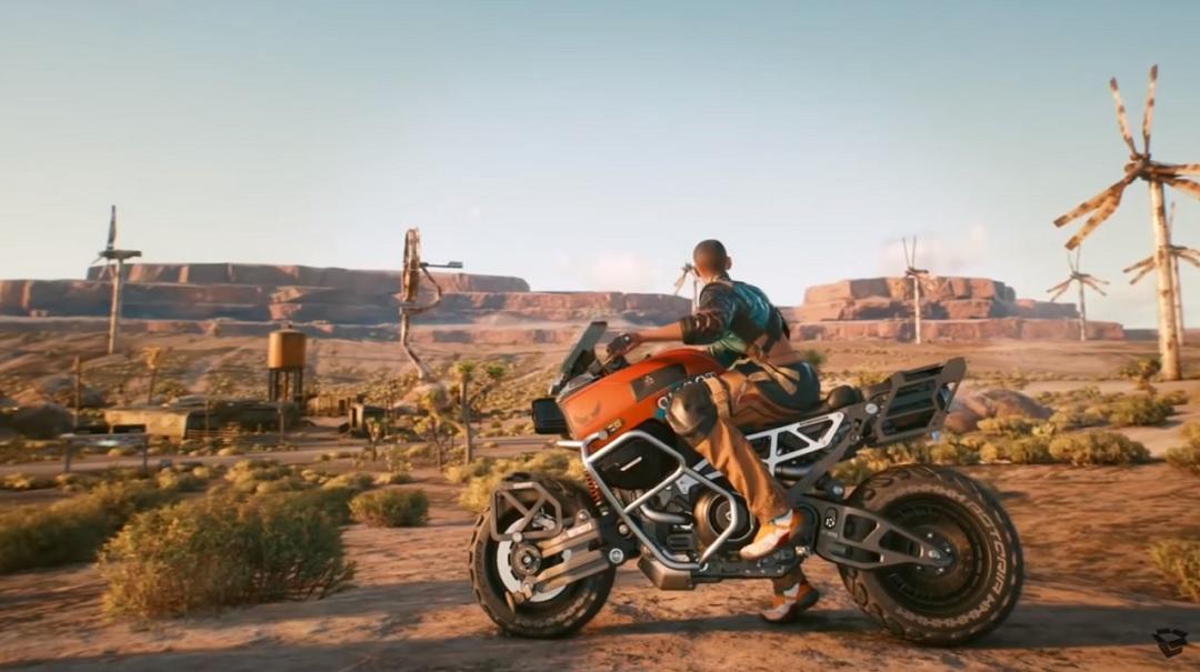 Cyberpunk 2077 - V na motocyklu