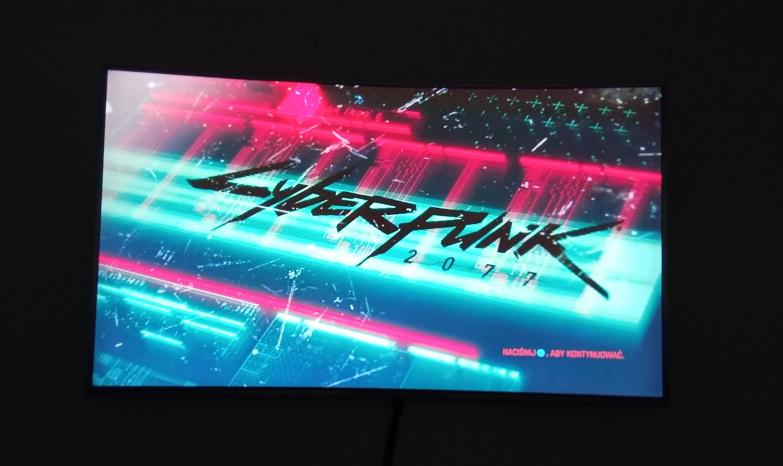 Ekran startowy Cyberpunk 2077