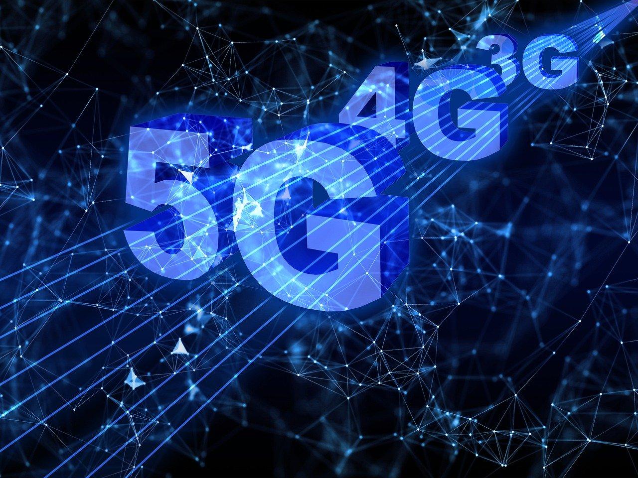 Grafika przedstawiająca napis 5G