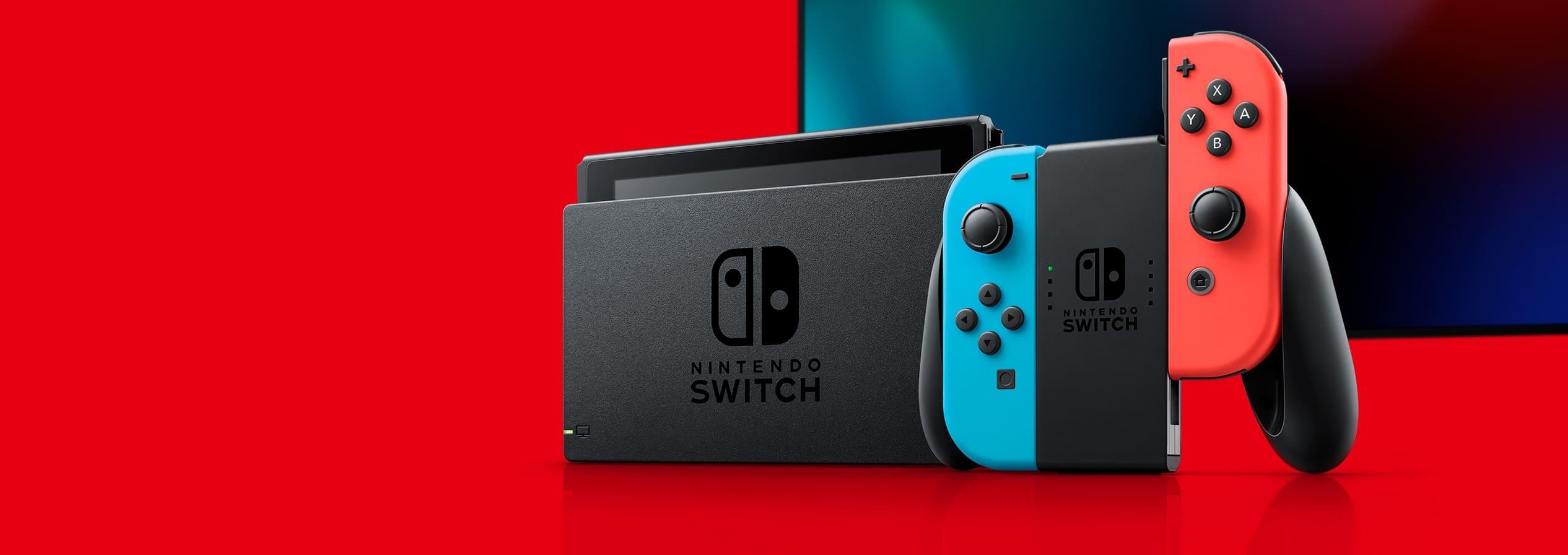 Nintendo Switch w wariancie z niebiesko-czerwonymi joy conami