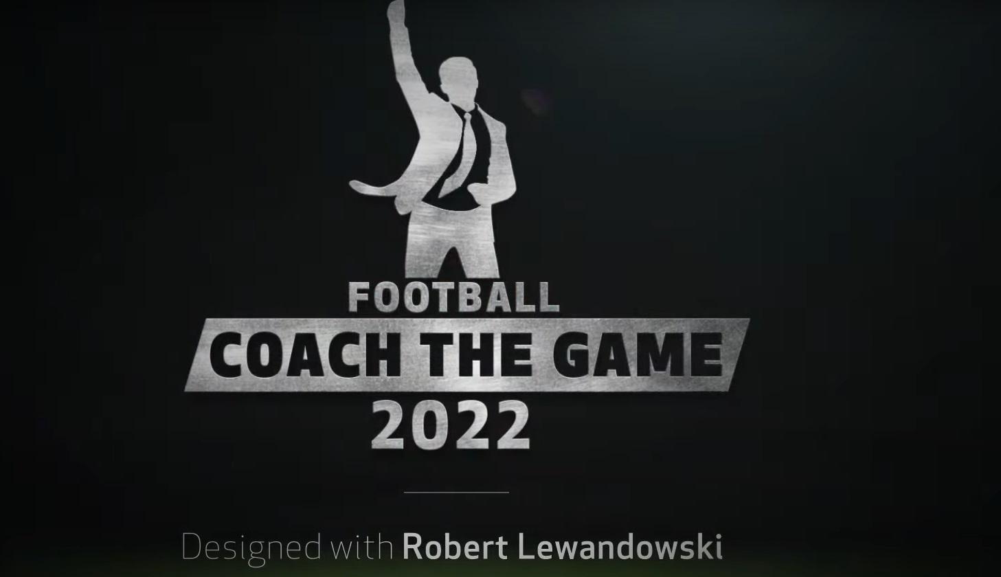 Screen z gry Football Couch przedstawiający trenera rugającego zawodnika