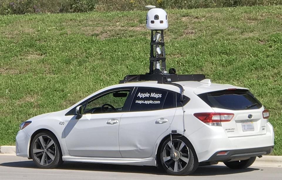 apple maps samochód