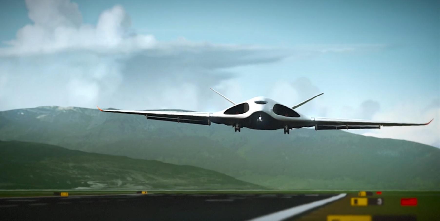 Wizualizacja lotu samolotu przyszłości