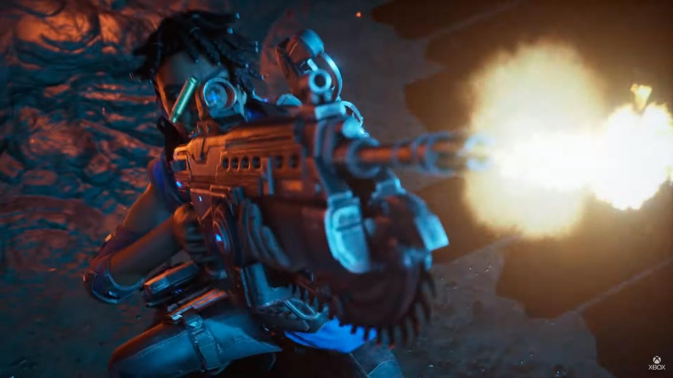 Screen ze zwiastuna DLC do Gears 5: Hivebuster