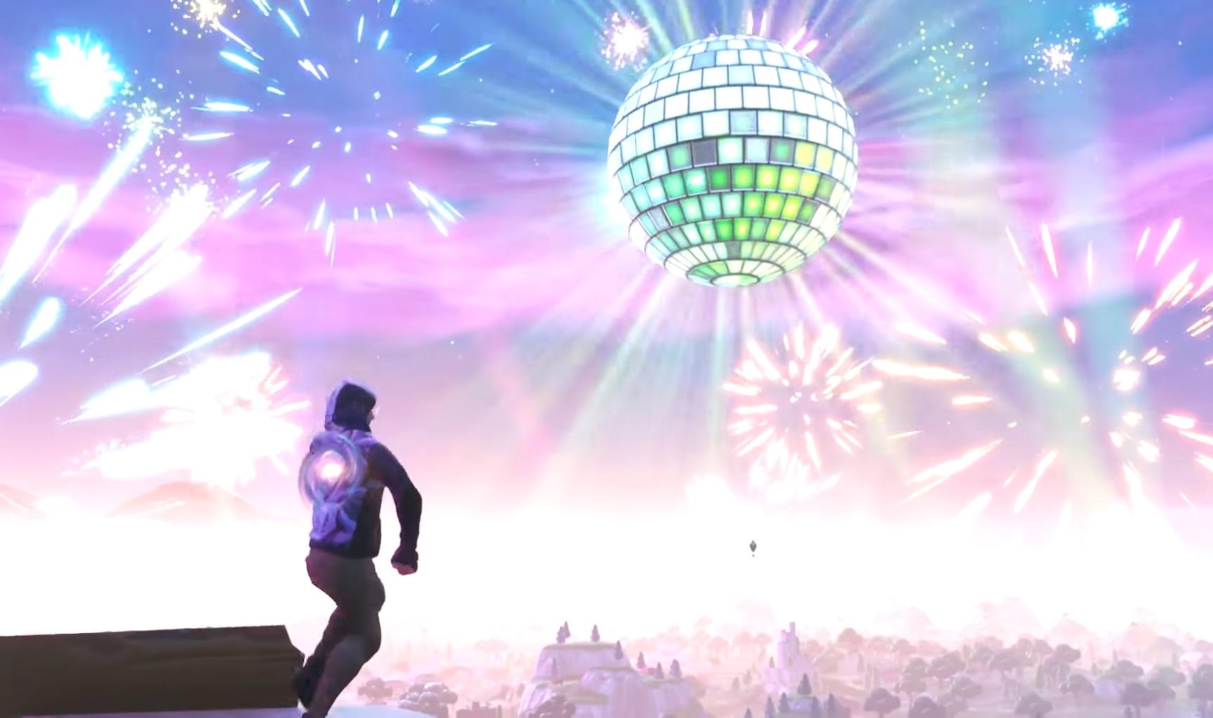 Screen z noworocznego eventu Fortnite w 2019 roku