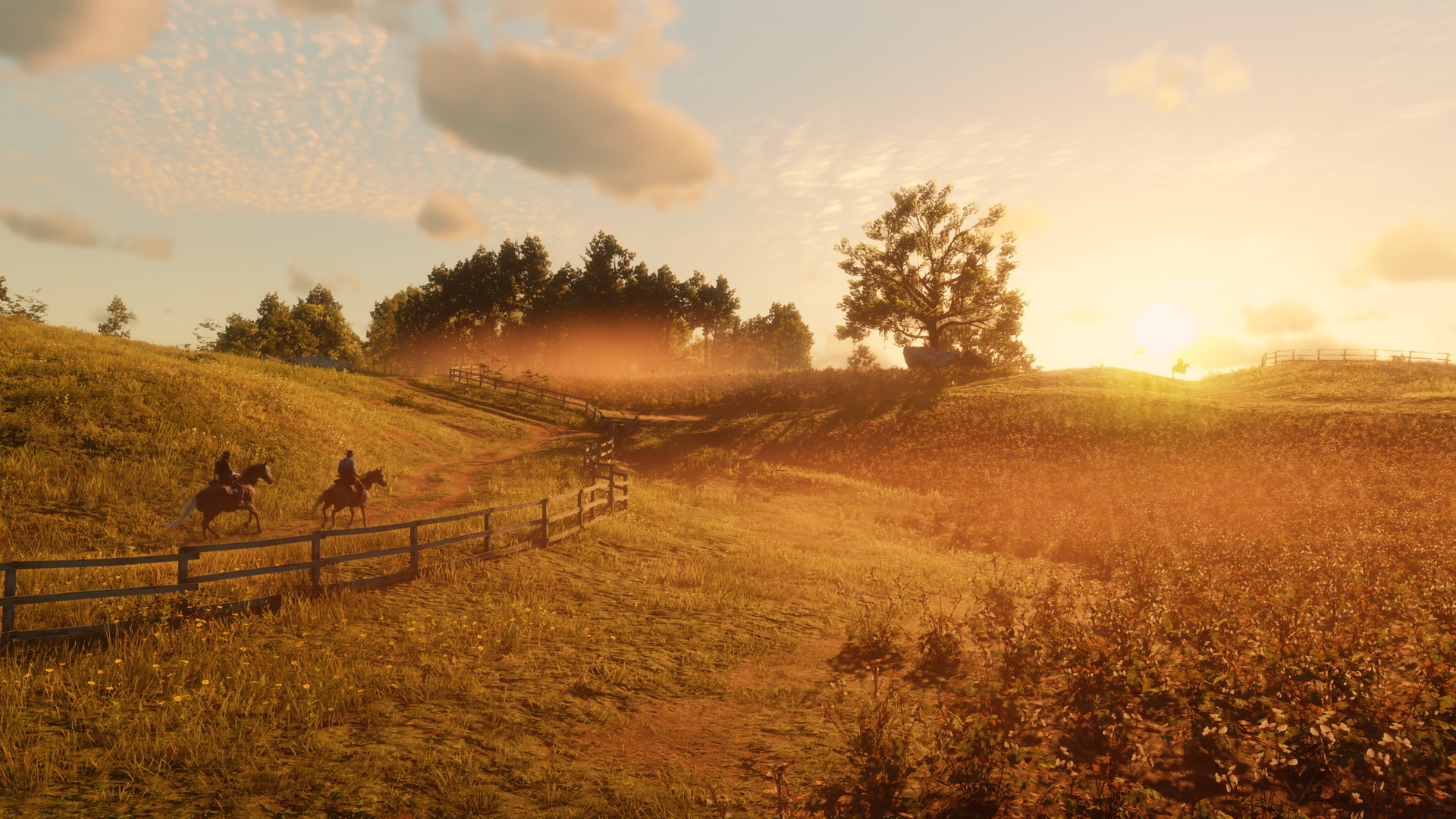 Krajobraz uchwycony w grze Red Dead Redemption 2