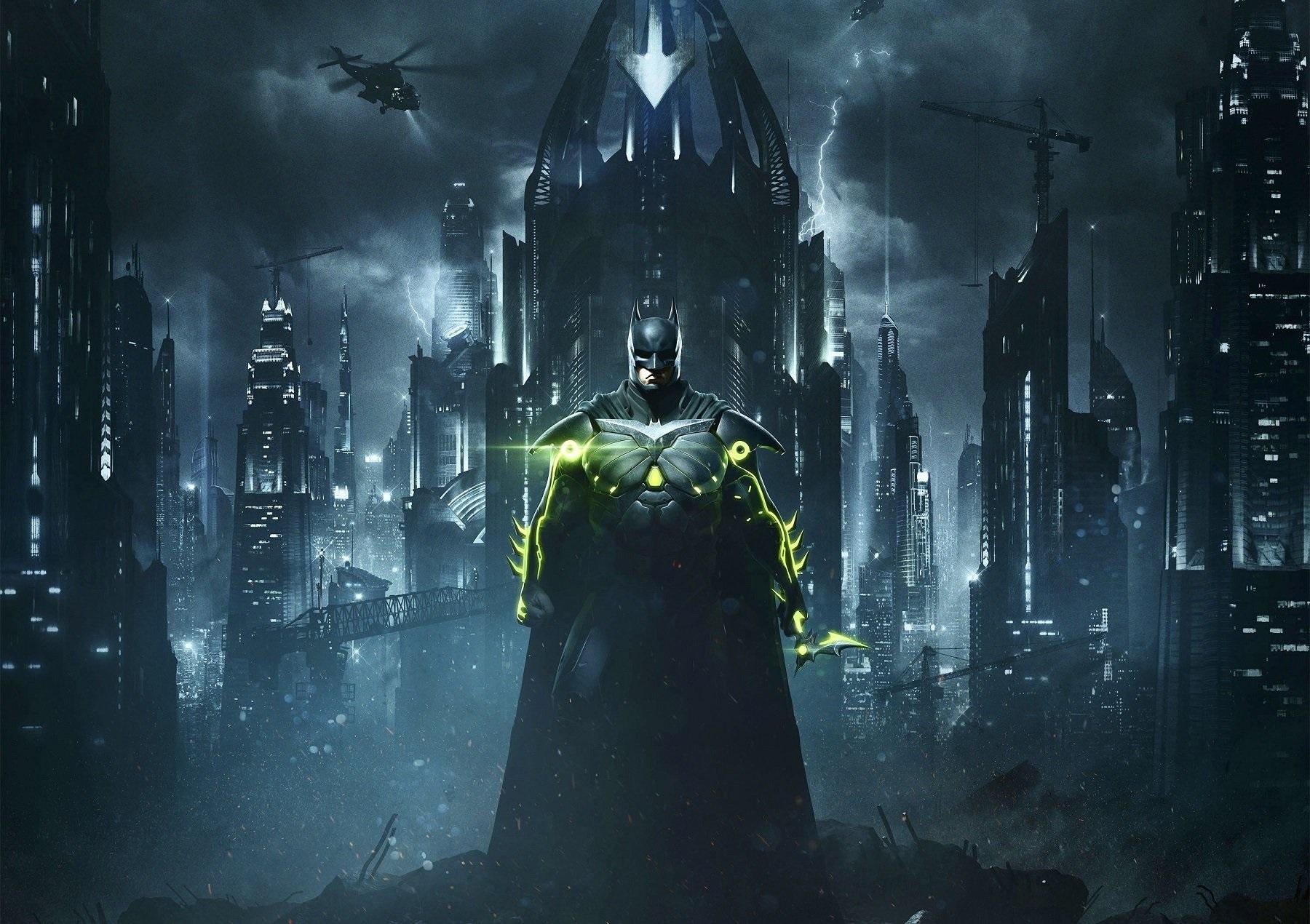 Batman z Injustice 2 w stroju kryptonitowym