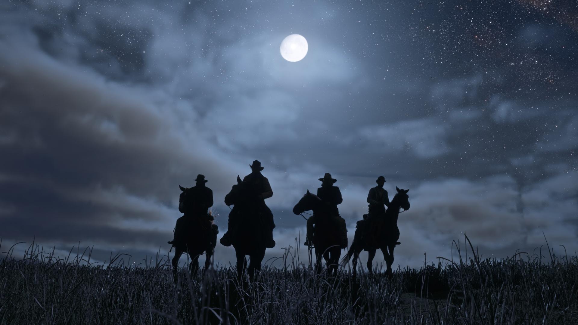 Red Dead Redemption 2 jeźdźcy na koniach