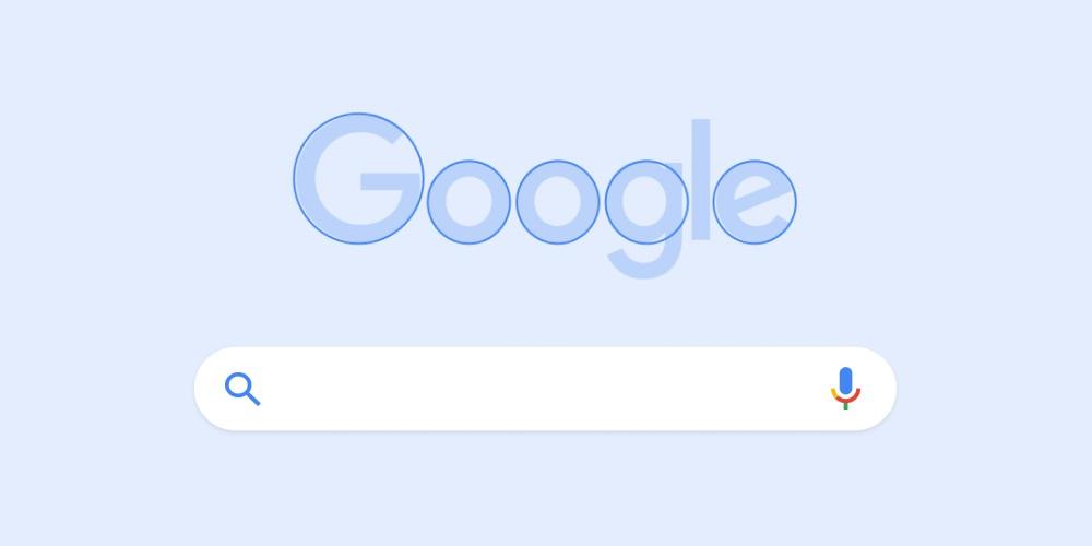 Google - zaokrąglone litery w logo