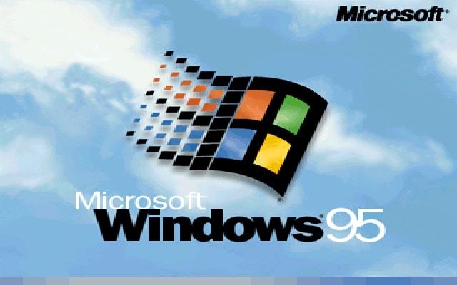 Ekran startowy w systemie Windows 95