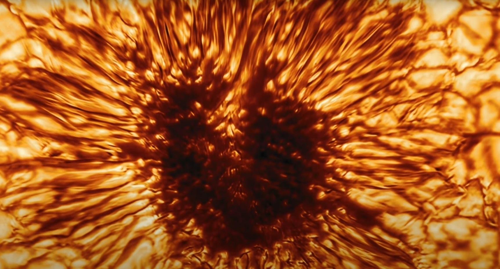 Zdjęcie plamy na powierzchni Słońca