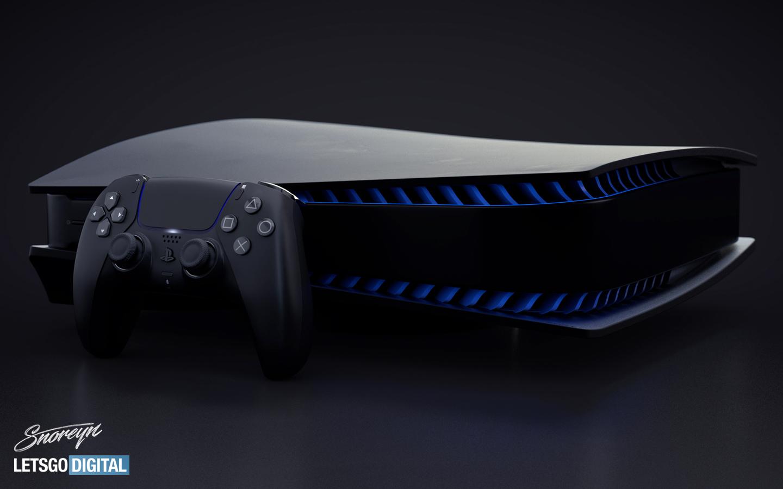 PlayStation 5 w czerni.