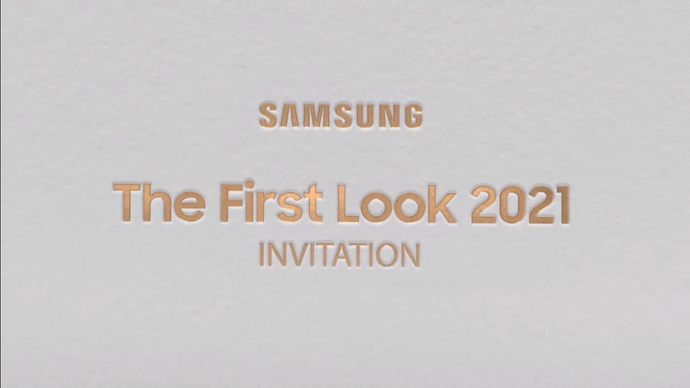 Zaproszenie na event First Look 2021 Samsunga