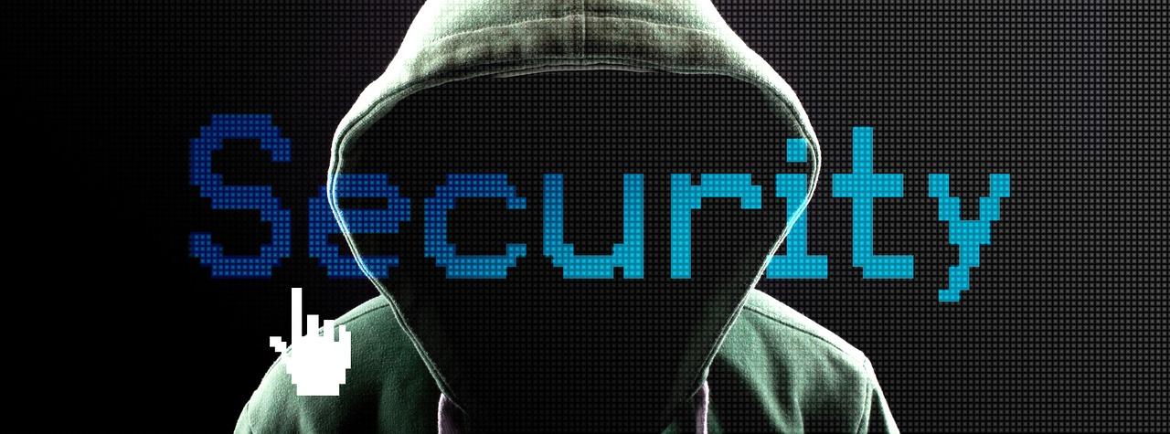 Wizualizacja hakera z hasłem security