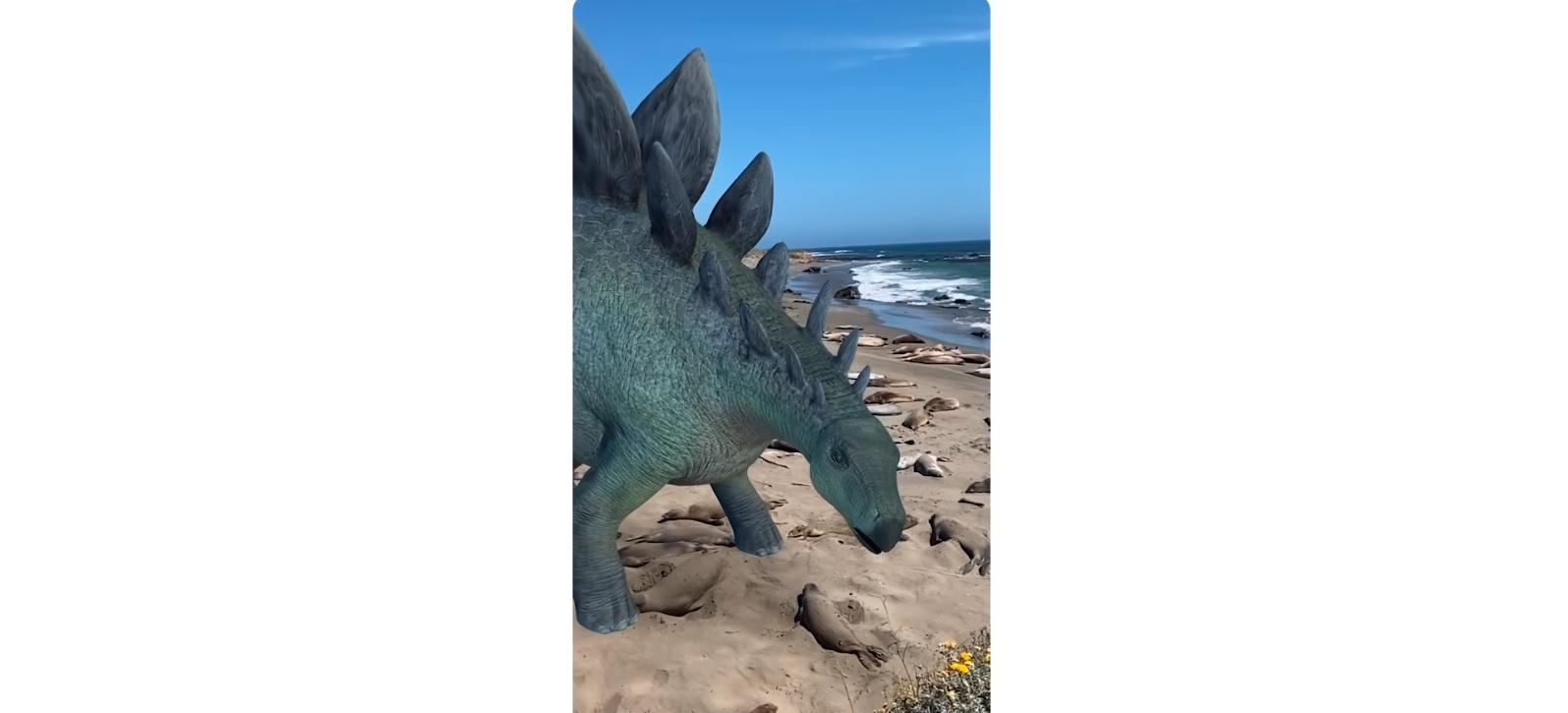 Dinozaury AR w Google