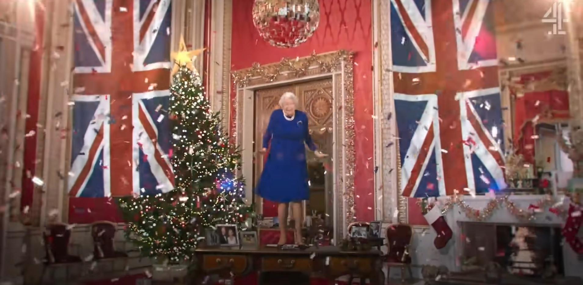 Królowa Elżbieta II w technologii deepfake