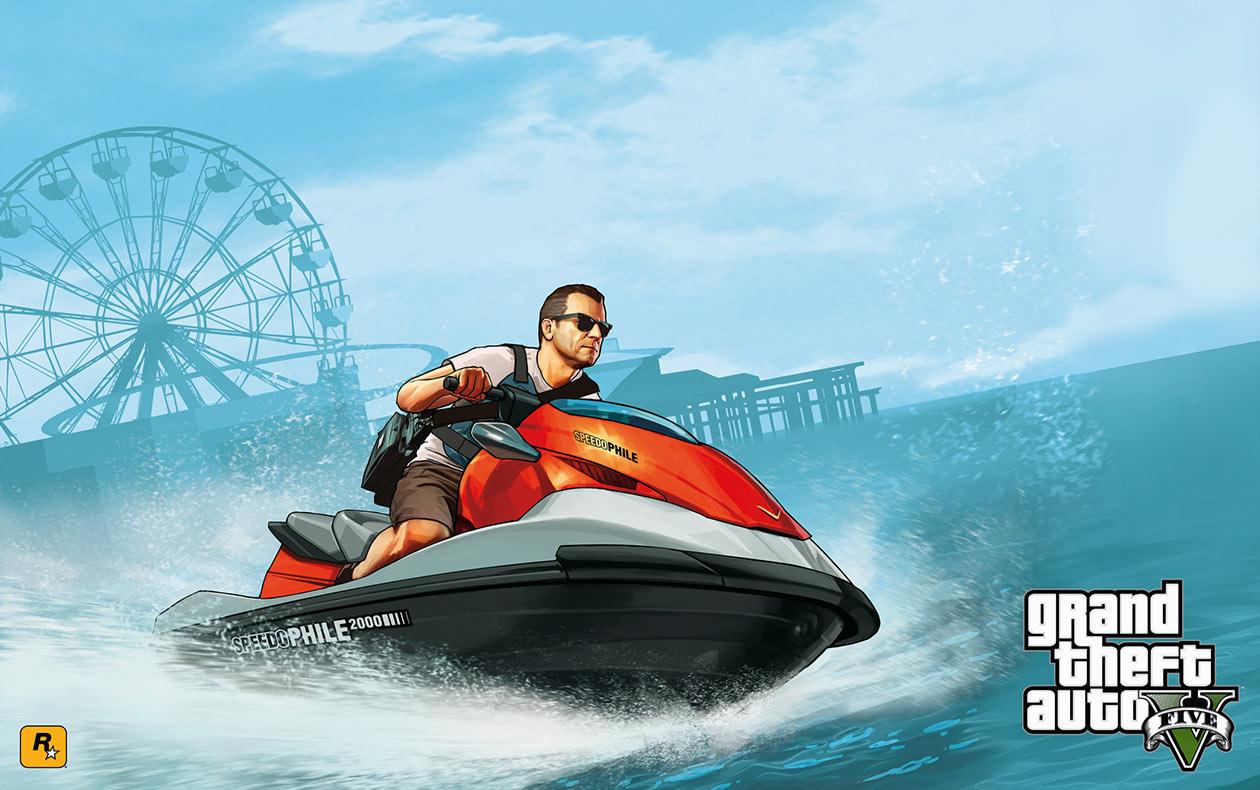 Michael na skuterze wodnym, GTA V