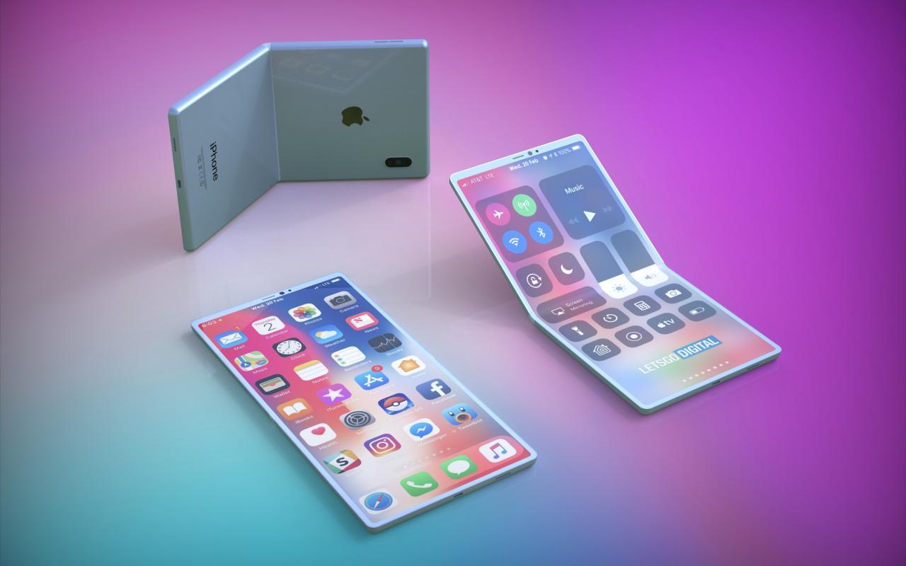 Rendery składanego iPhone'a.