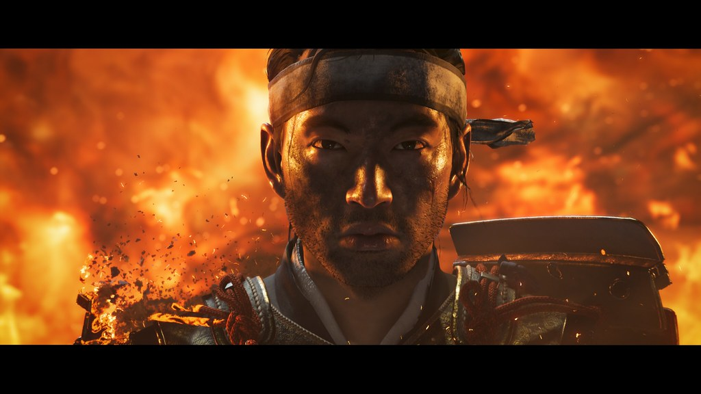 Screen z trailera Ghost of Tsushima.