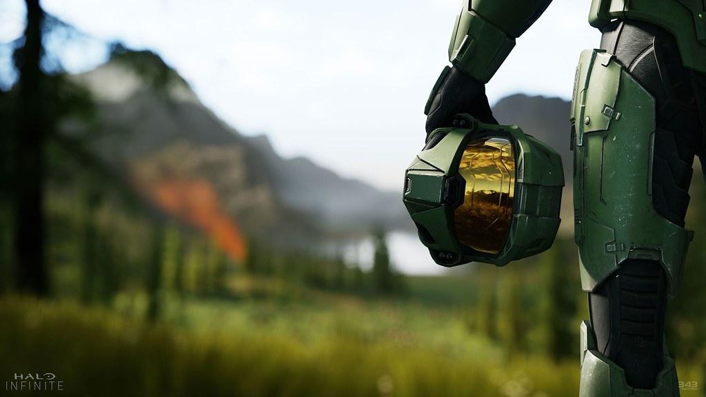 Cosplay Master Chiefa z gry Halo.