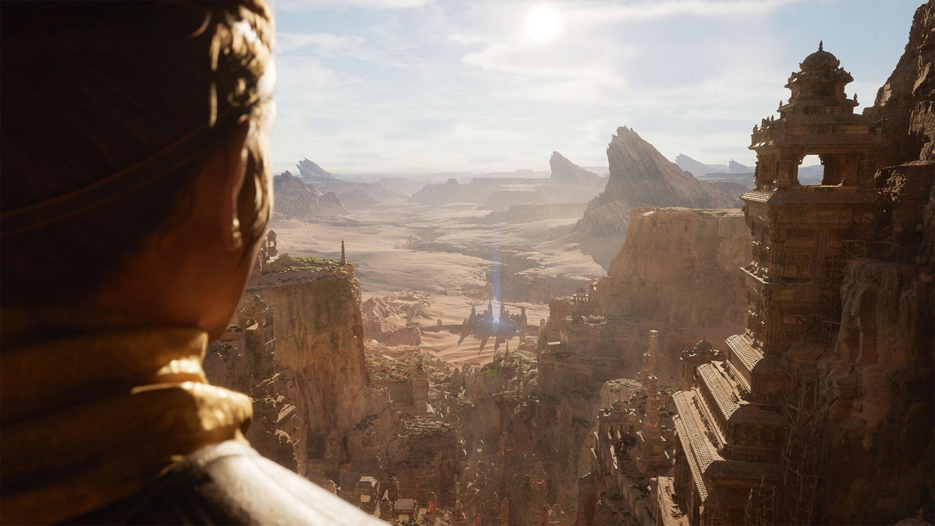 Screen z dema technologicznego silnika Unreal Engine 5.