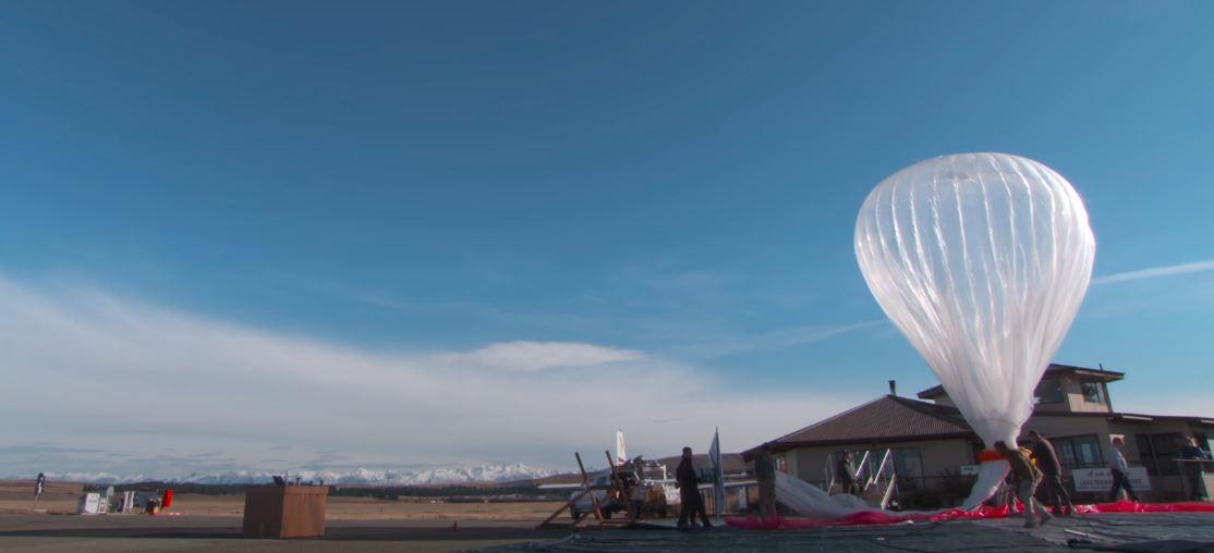 Start balonu udostępniającego Internet firmy Loon.