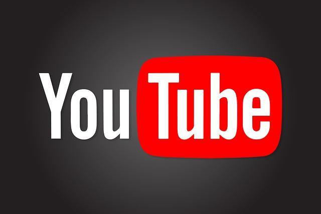 Logo Youtube na czarnym tle