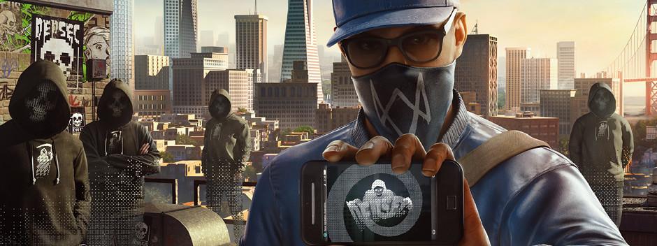 Okładka gry Watch Dogs 2 wyprodukowanej przez francuskie studio Ubisoft.