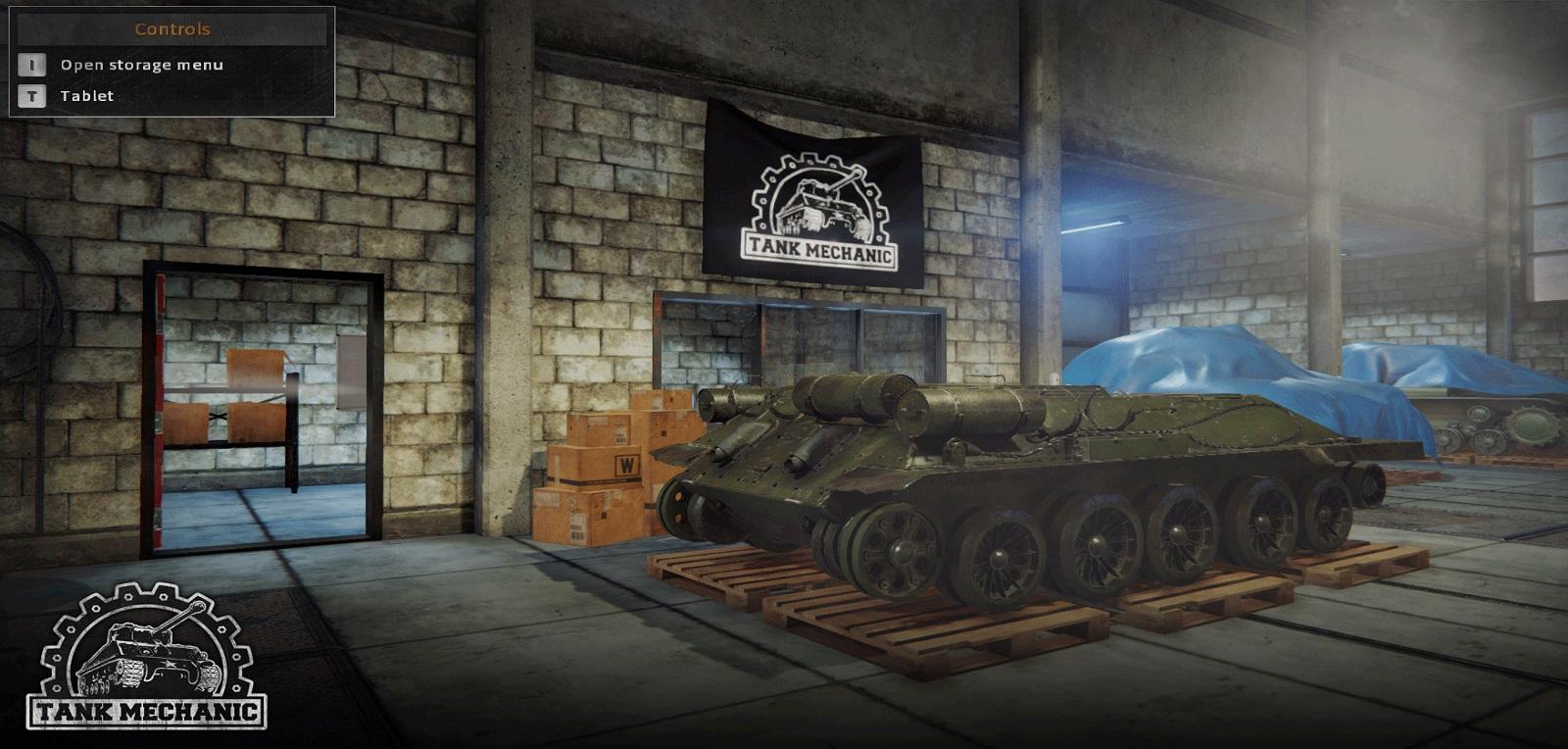 Tank Mechanic Simulator czołg w warsztacie