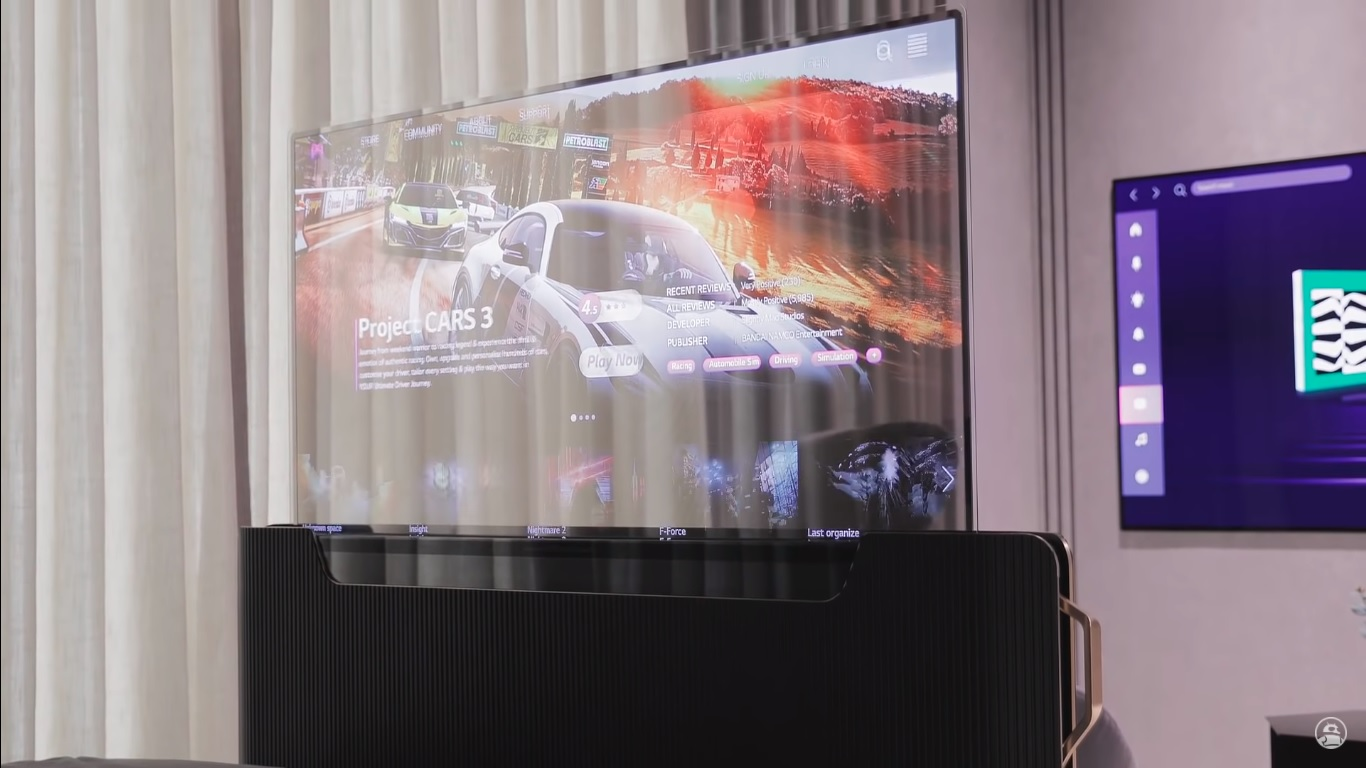 Prezentacja telewizora LG Transparent OLED Smart Bed