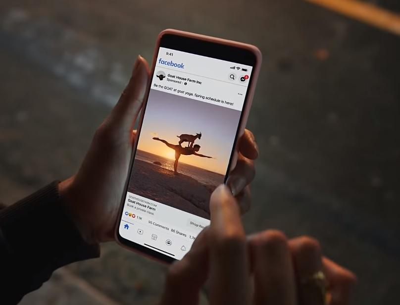 Facebook aplikacja, reklama