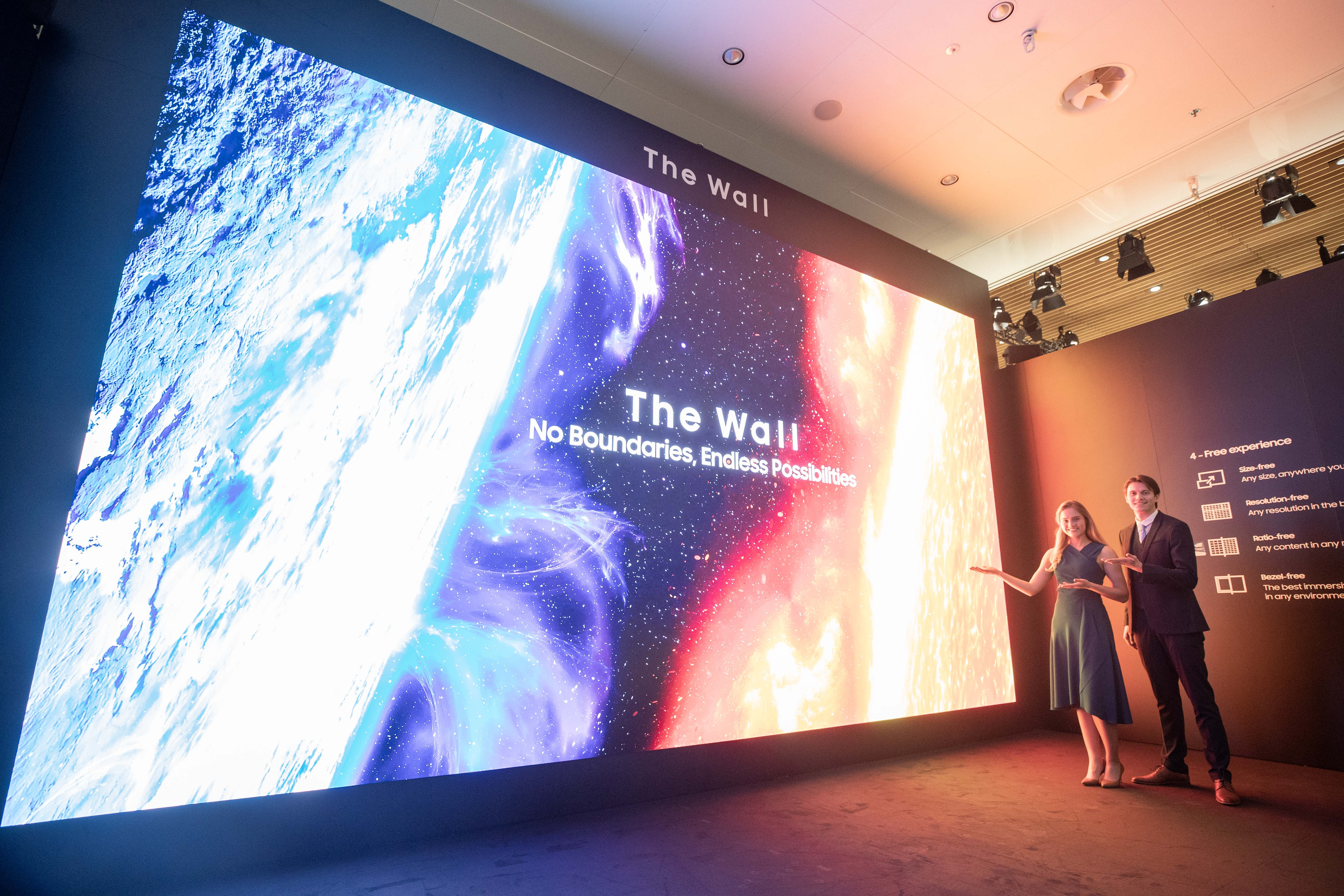 Samsung The Wall for Business targi ISE