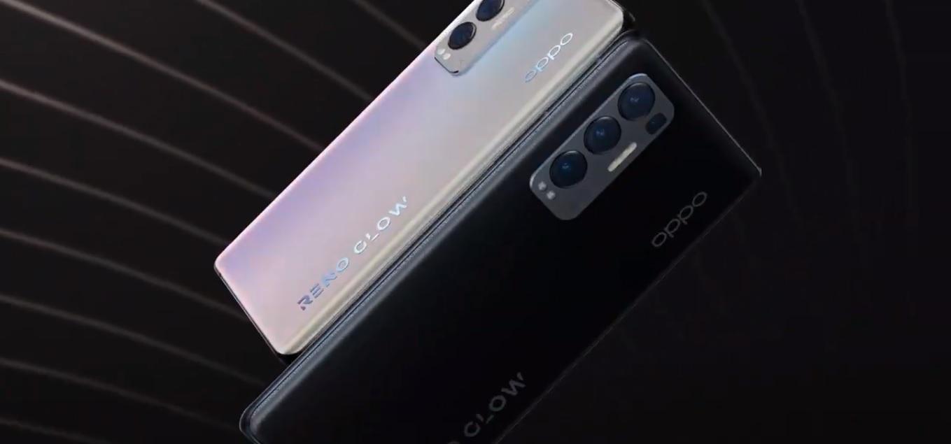 Tył 2 modeli Oppo Reno5 Pro+ w jasnym i ciemnym wariancie kolorystycznym