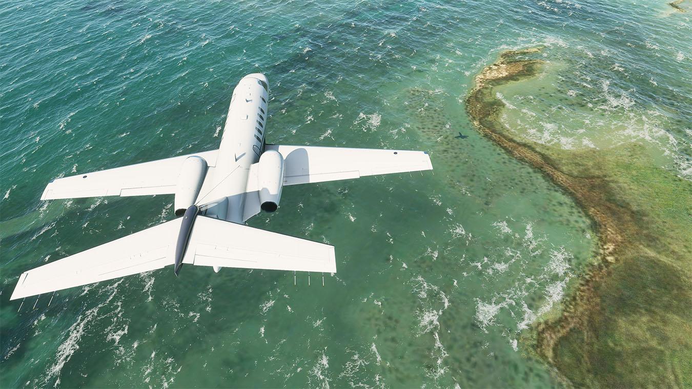 Screen z gry Microsoft Flight Simulator 2020.