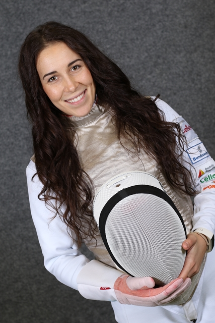 Anne Sauer Fechtmaske