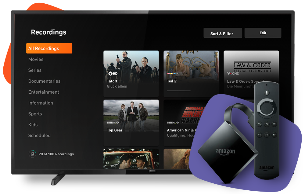 Stream tv over Amazon Fire TV