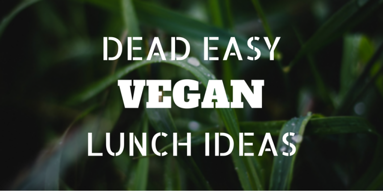 Dead easy vegan lunch ideas