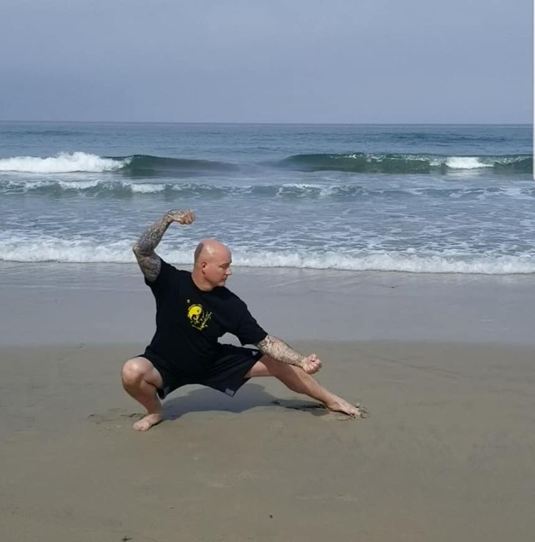 Scott Shetler doing Tai Chi