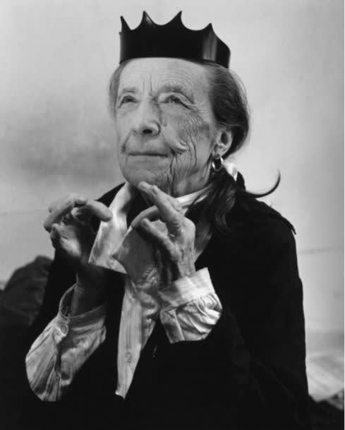 Helmut Lang, Ad Campaign, F/W 1997-98, Louise Bourgeois photographed by Bruce Weber