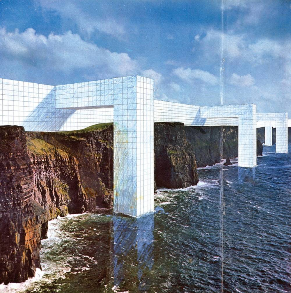 Superstudio     the continuous monument  on the rocky coast      1969