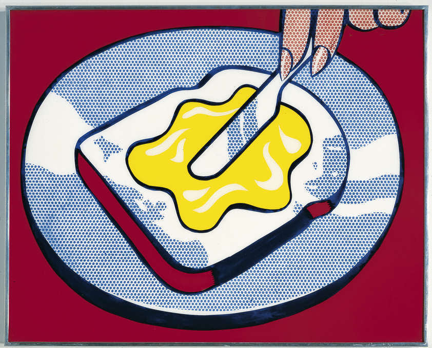 Roy Lichtenstein, Mustard on White, 1963
