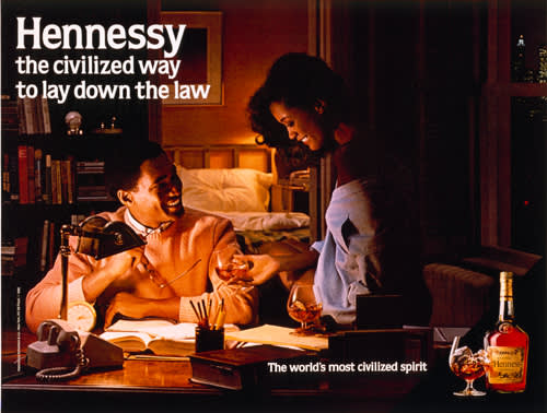 Jeff Koons, Hennessy, The Civilized Way to Lay Down the Law, 1986