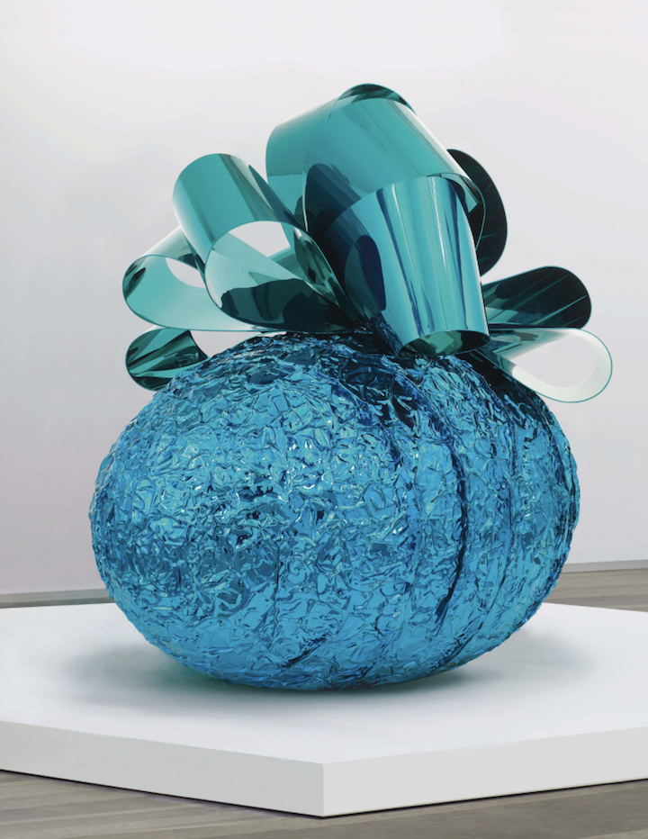 Jeff Koons , Baroque Egg with Bow (Blue/Turquoise), 1994-2008