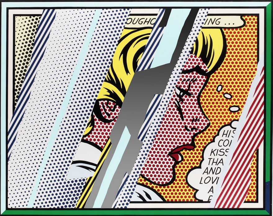 Roy lichtenstein   reflections on girl   1990