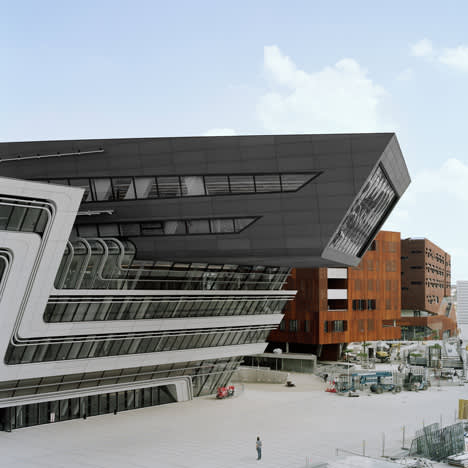 Zaha Hadid , The Library and Learning Center University of Economics in Vienna, Austria, 2013